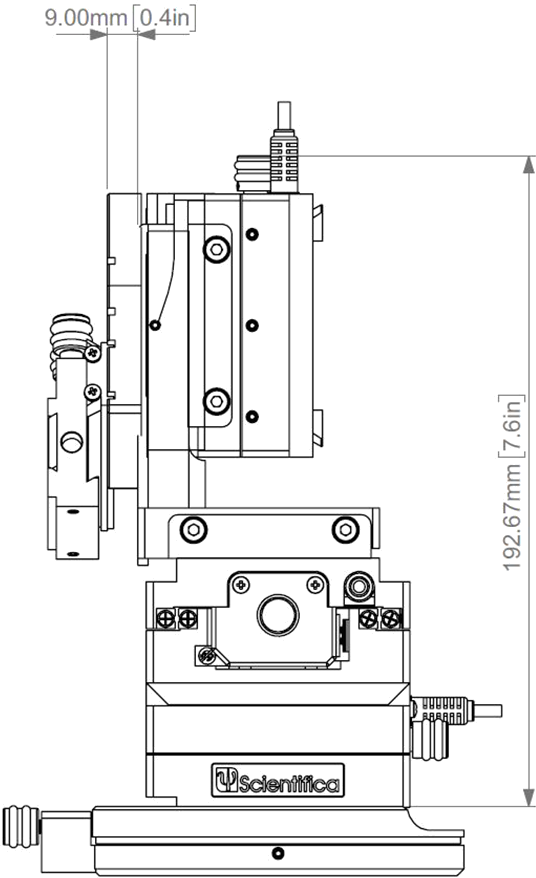 PatchStar Micromanipulator Schematic Side Profile